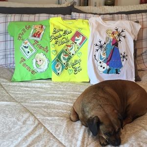Other - NWT*3 (different) girls' Frozen shirts (all 3 inc)